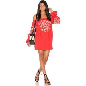 Free People | Fleur Du Jour Mini Dress in Red